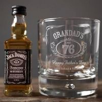 Personalised Whisky Tumbler and Jack Daniels Miniature - Grandads - Jack Daniels Gifts