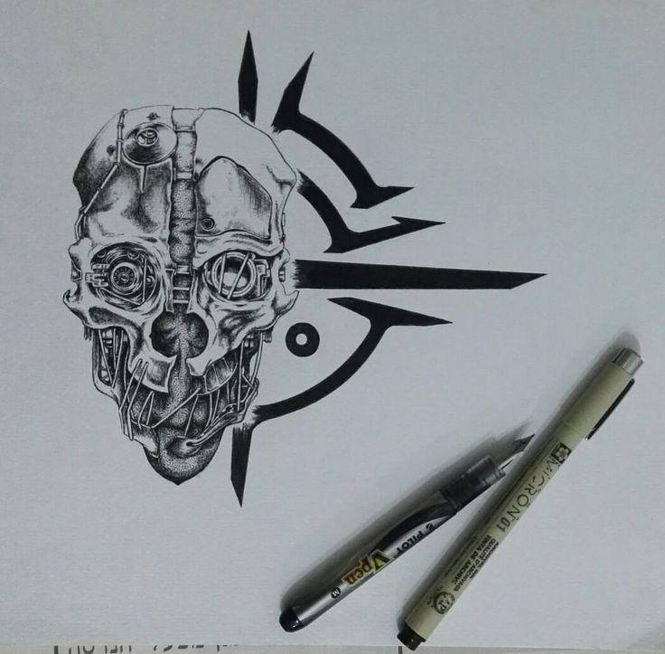 Inktober here we go! 1st pice - Corvo's mask - Album on Imgur