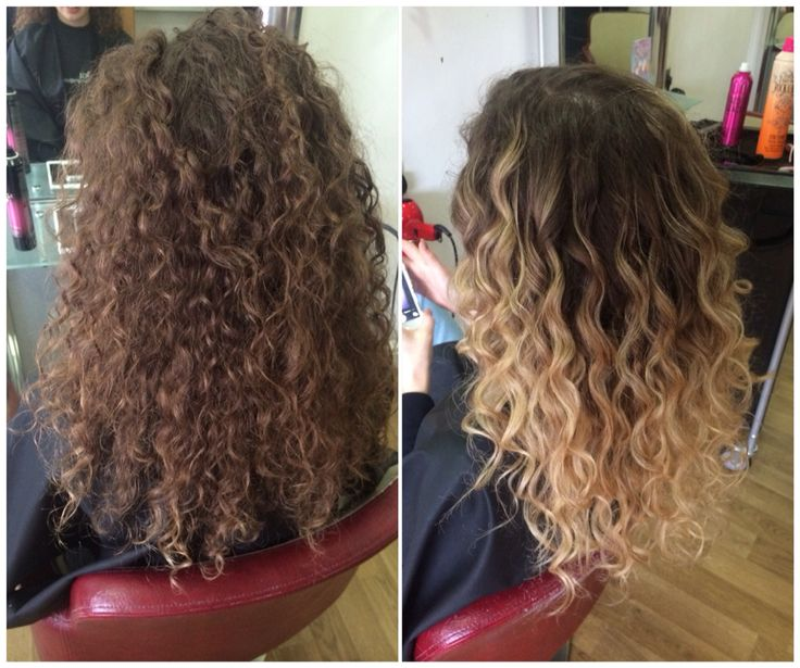 curly balayage beautiful summerhair