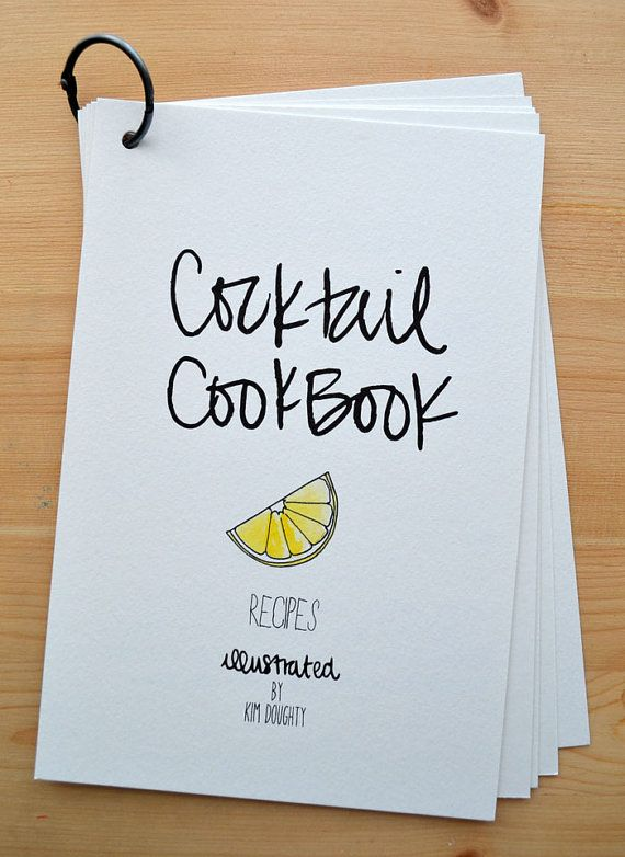 Cocktail Cook Book on Etsy!