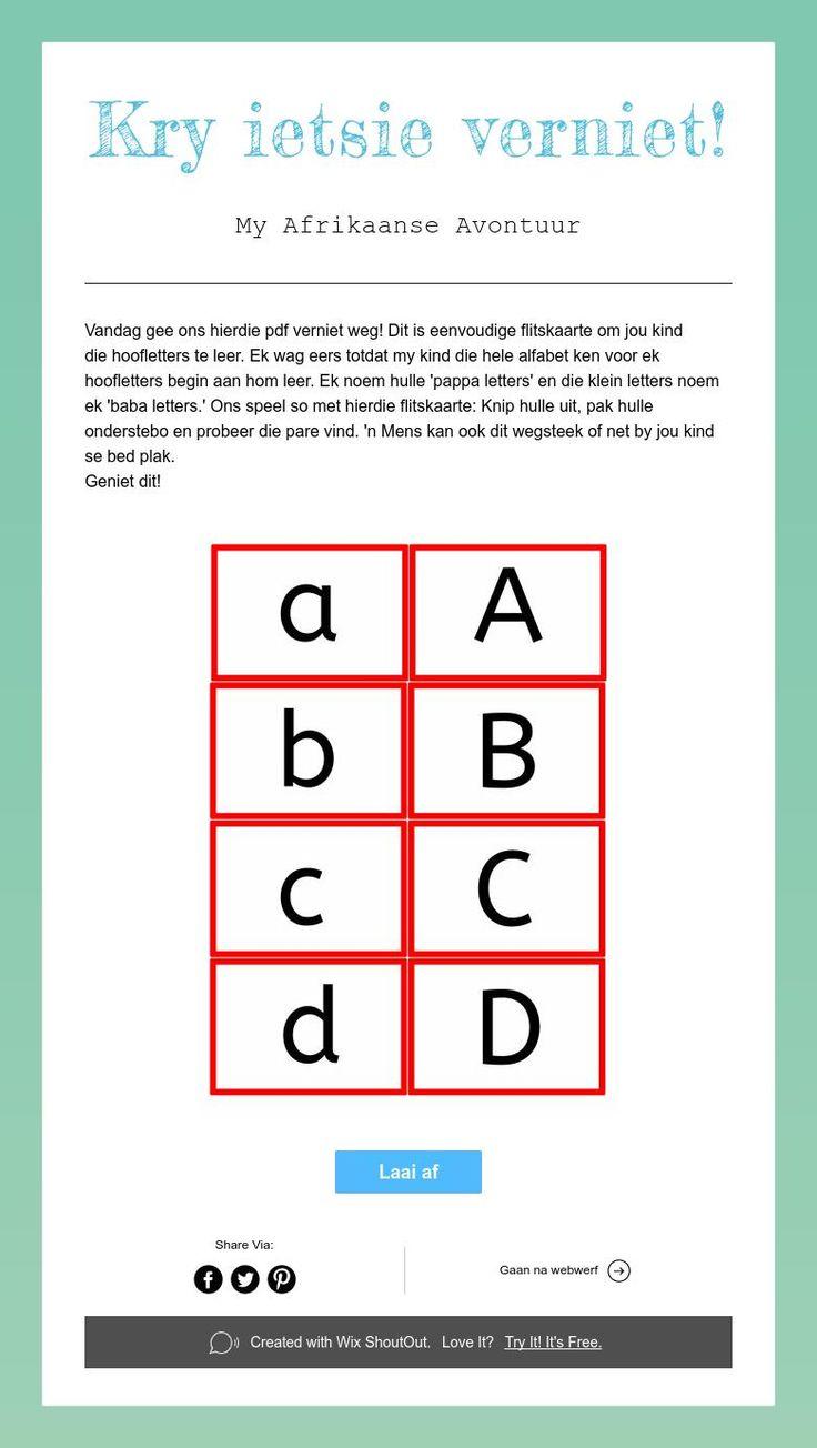 Hoofletters, afrikaans lees en skryf, graad 1, voorskool, alfabet, abc