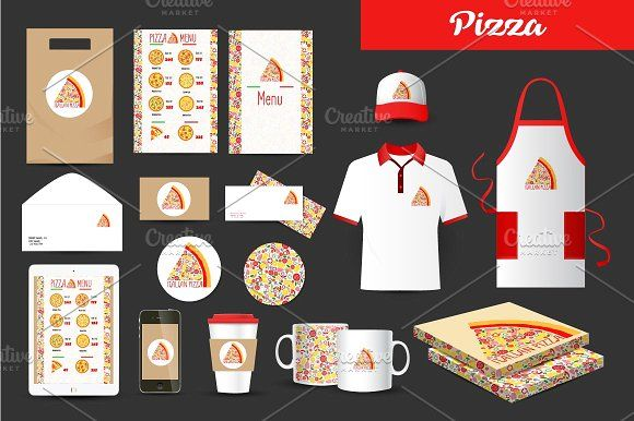 Pizza vector logo by Alisovna on @Graphicsauthor