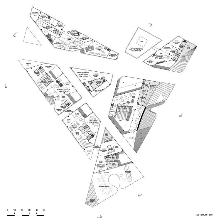 Hipsterkasbah (Otaniemi Campus, Aalto University) / ALA Architects 2st plan