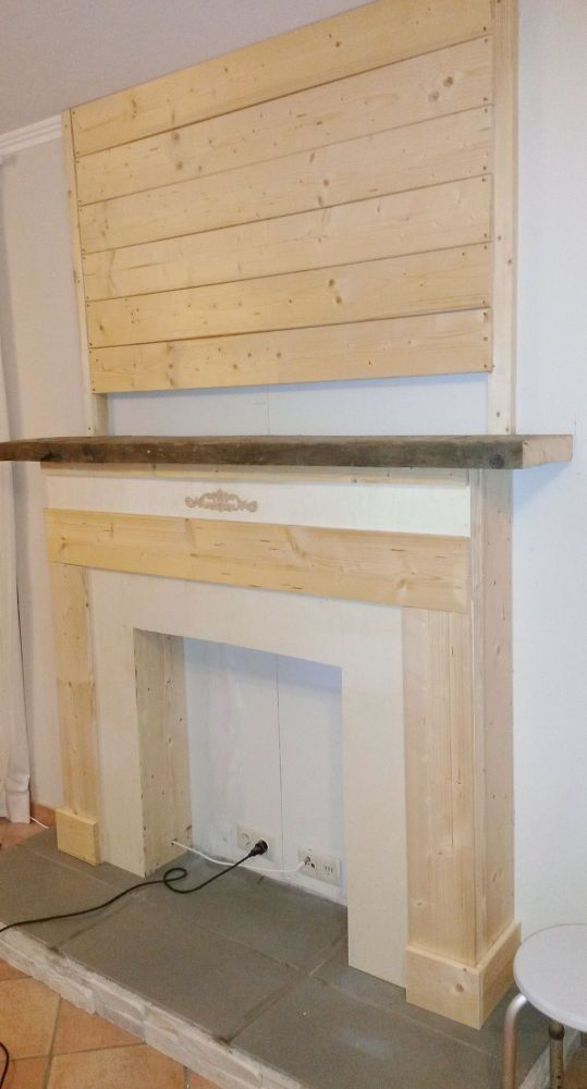 how to make a faux fireplace on the cheap - How To Build A Fireplace Surround
