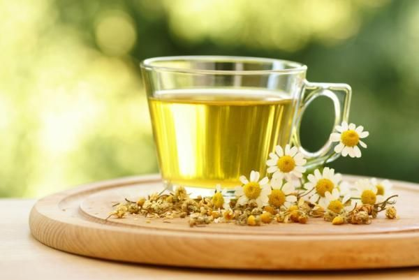 Chamomile tea - cure for: Heartburn. Chamomile can ease digestive inflammation, spasms, and gas. Steep 2 teaspoons of the herb in 10 ounces of very hot water for 20 minutes, covering the cup to keep the essential oils in the water. You may have to drink the tea a few times a day for complete relief.