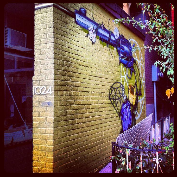 Found this on Dundas street west Toronto. Steet art. Murals