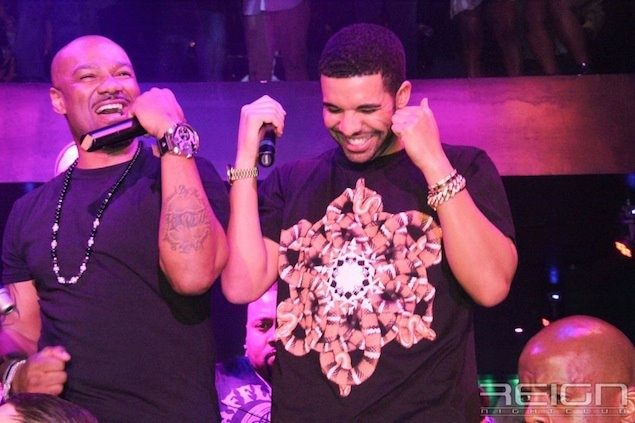 Drake wears #Marcelo Burlon Sun T-shirt at Reign Nightclub