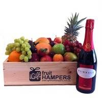 Peter Rumball Sparkling Shiraz Gift  Fruit Hampers for all Occasions - say it with fruit! *BIRTHDAY* *THANK YOU* *CONGRATULATIONS* *HOUSE WARMING* *FOR HIM* *FOR HER* *NEW BABY* *GRADUATION* *MOTHERS DAY* *I LOVE YOU* #fruithampers #gifthampers #australiangifts #corporategifts