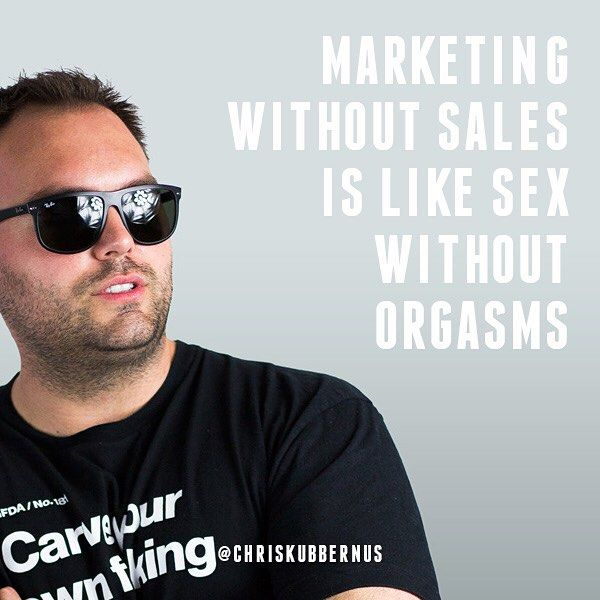 """""""Marketing without sales is like sex without orgasms."""" #quote #marketing #sales #sex #socialmedia #orgasmic #business"""