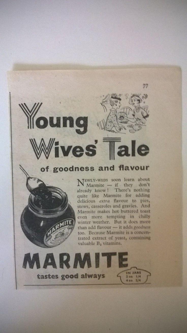 Original Advert - Marmite Tastes Good Always - 1957 in Collectables, Advertising, Other Advertising | eBay