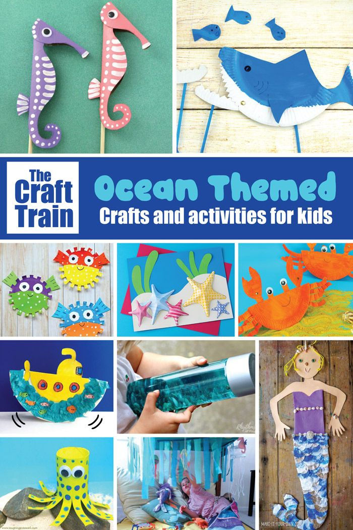 20 Ocean Crafts And Activities The Craft Train Projects