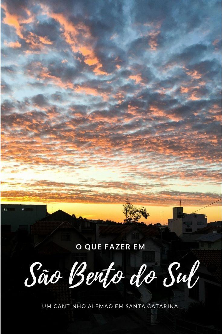 São Bento do Sul, cidade pequena de Santa Catarina, com forte cultura alemã e o pôr do sol mais belo do estado. Um encantador cantinho do Brasil.