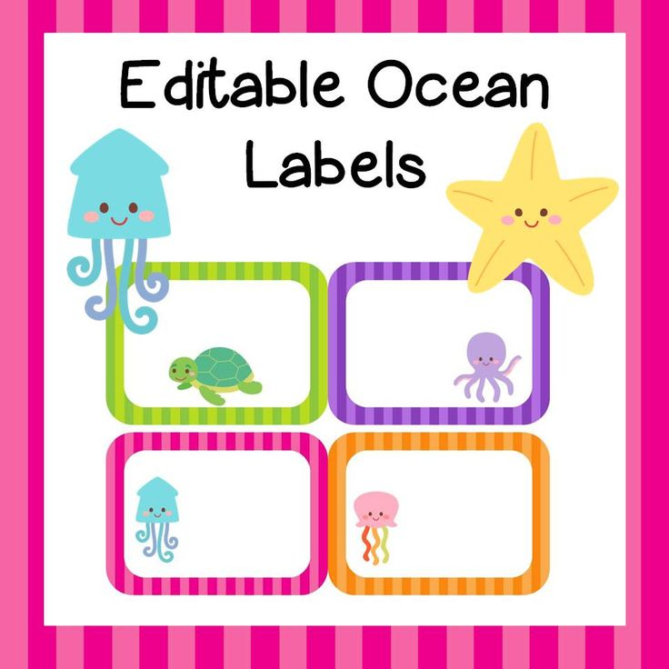 Editable Classroom Decor ~ Editable ocean themed labels teacher tools by st grade
