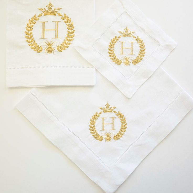Bee & Crown Linens. Choose linen towels, dinner napkins or cocktail napkins. Available in 30 colors or more than 150 custom colors.