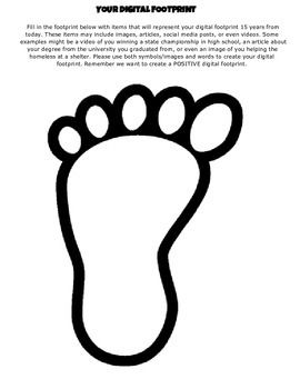 Digital Footprint - Great for digital citizenship lesson