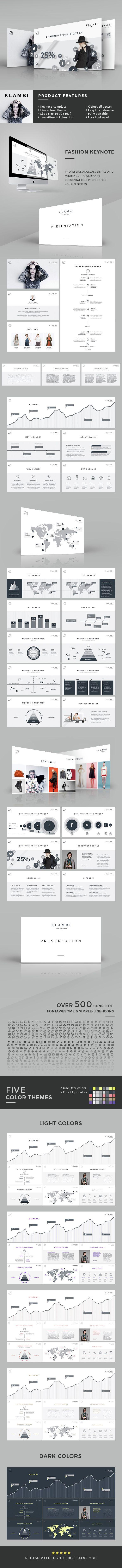 Fashion Keynote Template - Creative Keynote Templates