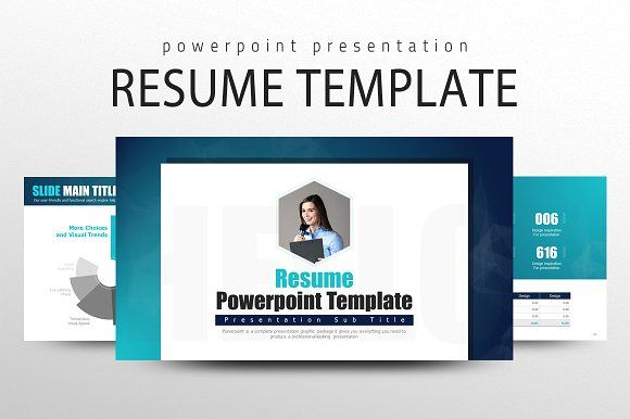 Resume PowerPoint Template by Good Pello on @creativemarket