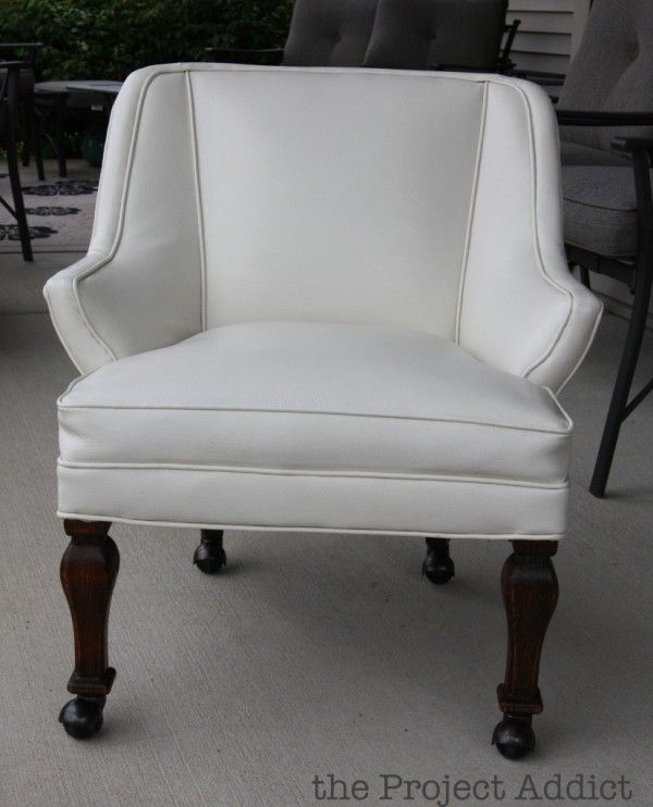 how to easily restore an old leather chair the project addict featured on remodelaholic can you paint leather furniture