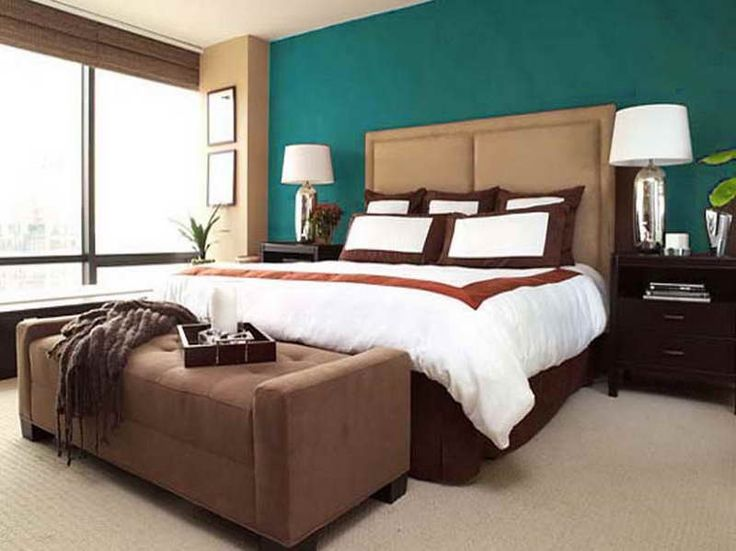 Color combinations for bedrooms from turquoise and Brown color bedroom