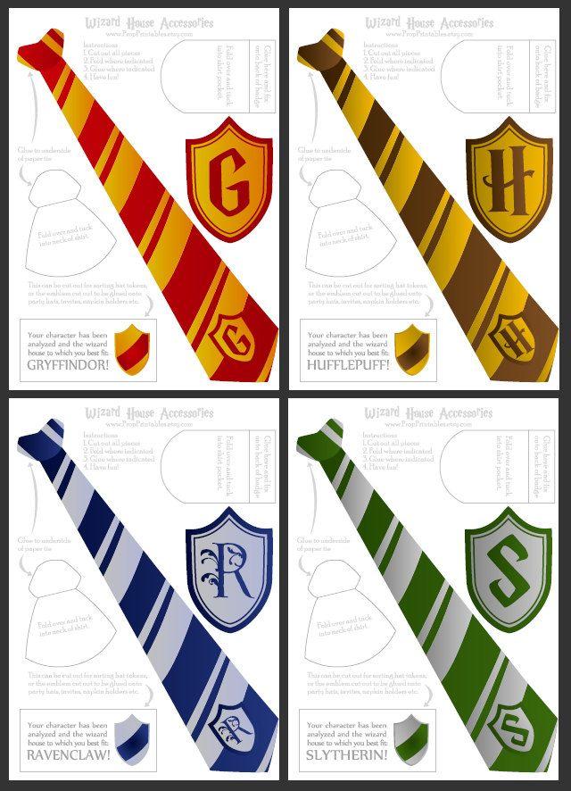 Wizard Ties & Badges - Printable. $1.50, via Etsy.