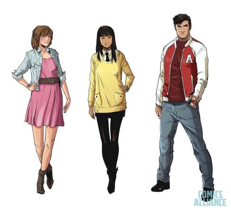 The New Power Rangers Comics Feature Really Stylish Teens