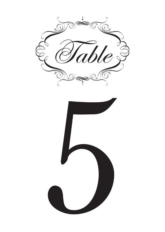 image about Free Printable Table Numbers identify Free of charge Extravagant Printable Desk Figures Wedding ceremony inside of 2019