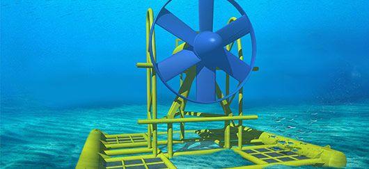 énergie éolienne fonctionnement | Modèle d'hydrolienne « D10 » développé par Sabella. (©Sabella)