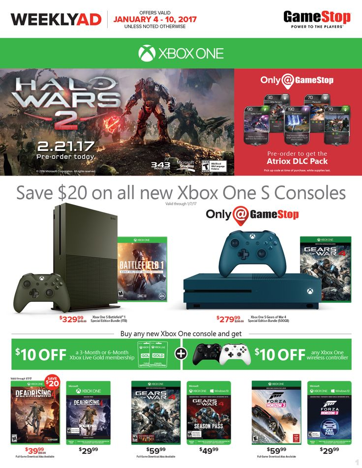 Game Stop Weekly Ad January 4 - 10, 2017 - http://www.olcatalog.com/game-stop/game-stop-weekly-ad.html