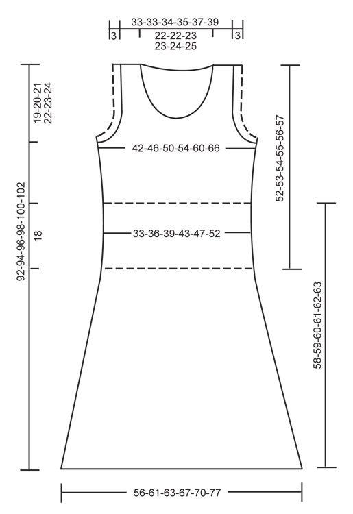 Robe sans manches DROPS, ou Jupe et Top, tricotés avec 2 fils Alpaca. Du S au XXXL Modèle gratuit de DROPS Design.
