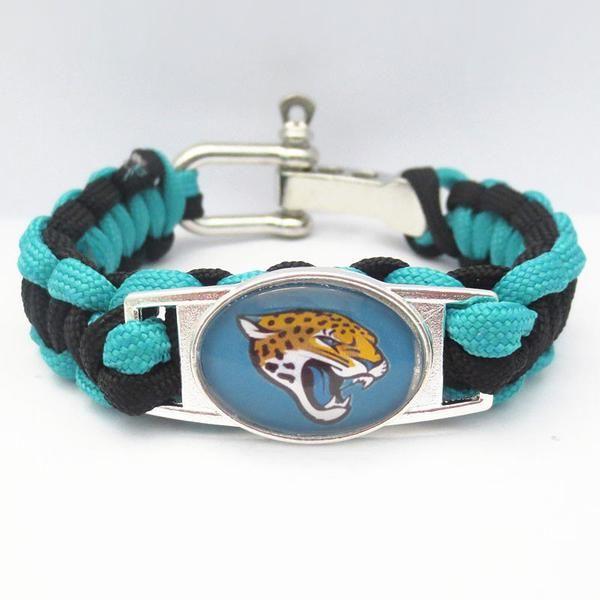 NFL Jacksonville Jaguars Football Team Paracord Bracelet
