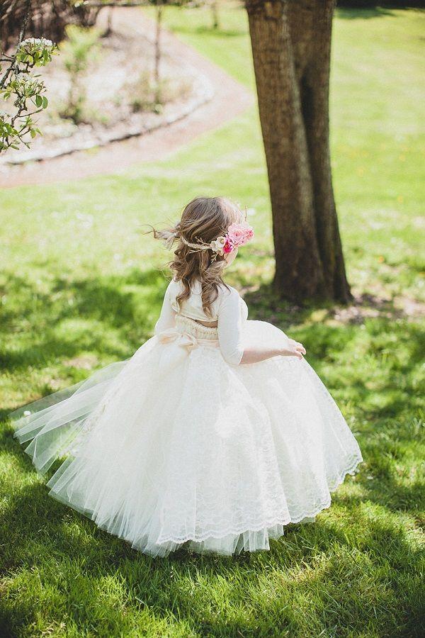 flower girl dress by Little Dreamers Tutu