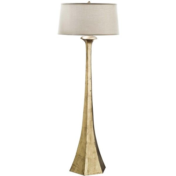 Regina-Andrew Granville Antique Gold Leaf Tapered Floor Lamp ($748) ❤ liked on Polyvore featuring home, lighting, floor lamps, traditional lamps, traditional lighting, universal lighting and decor and traditional floor lamps