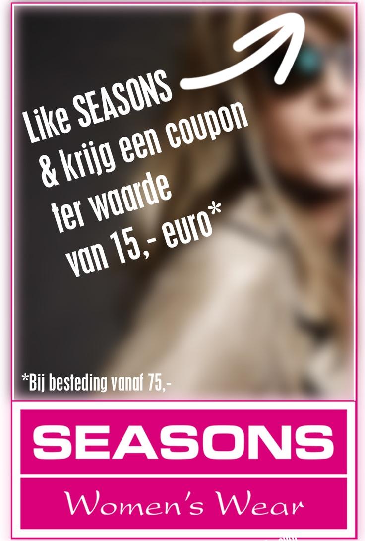 Like facebook.com/seasonsnijmegen en ontvang een coupon ter waarde van €15,-!
