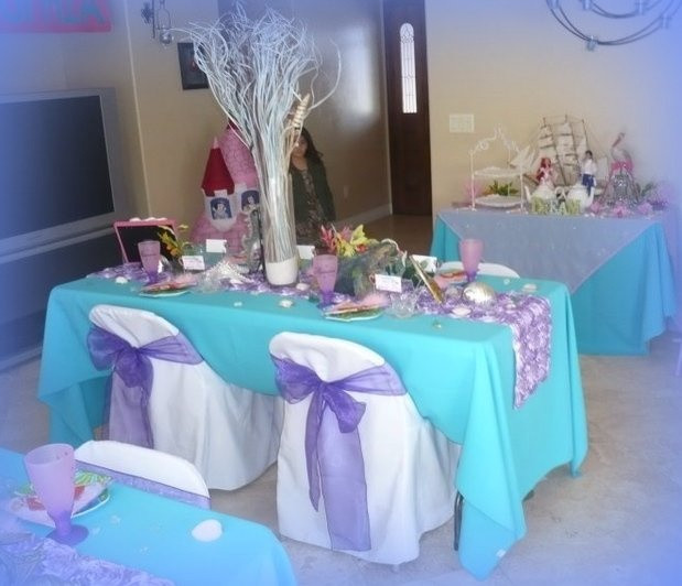 Under the sea party decorations ariel theme party image for Ariel decoration ideas