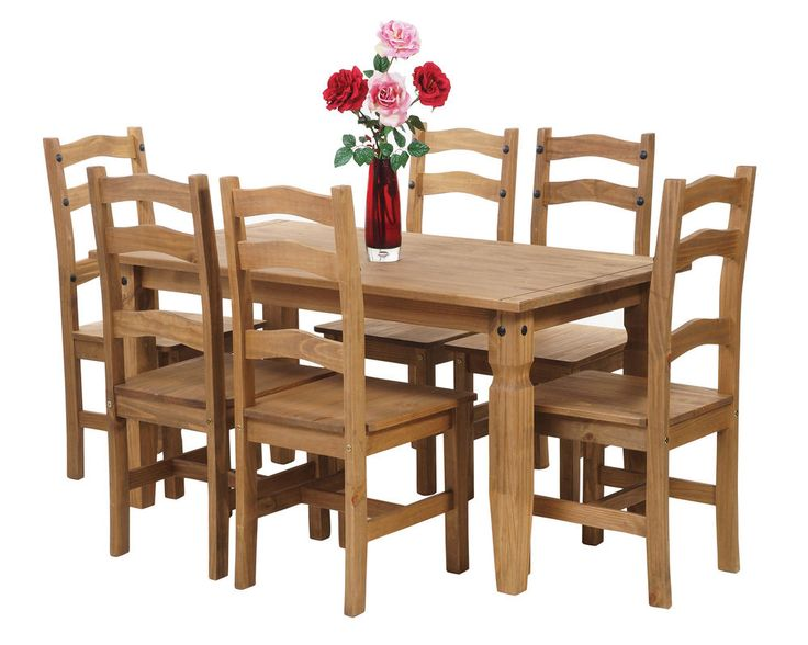 Dining Table And 6 Chairs Premium Corona Mexican Solid