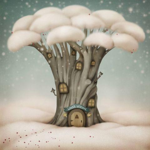 Сказочное дерево в стиле Арт