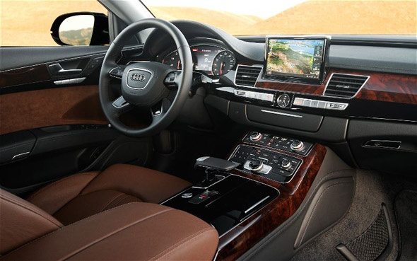 Inside the new 2014 Audi A8 - Makes me want to wear a suit!!