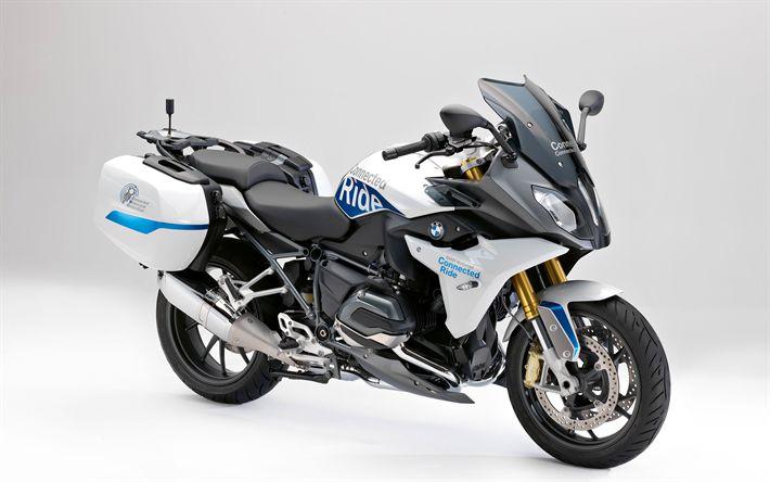 Download wallpapers BMW R1200RT LC, 4k, 2017 bikes, german motorcycles, BMW