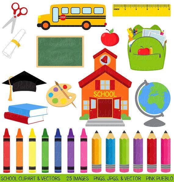 School Clipart Clip Art Graduation Teacher Education by PinkPueblo  https://www.etsy.com/listing/99089290/school-clipart-clip-art-graduation?ref=fp_item&aref=32108474798