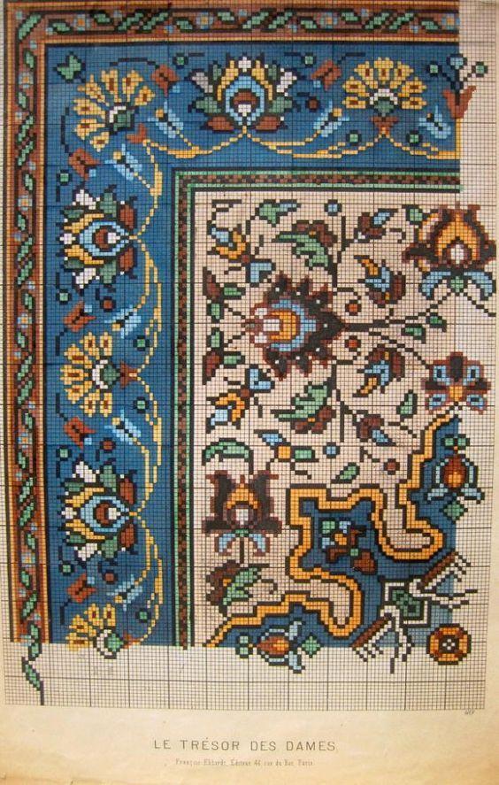 Старинные схемы вышивки. Часть 2 - Ярмарка Мастеров - ручная работа, handmade: