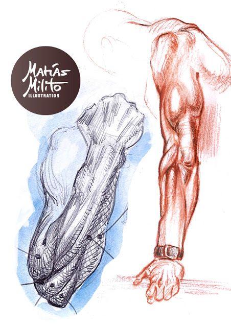 Urban sketches and anatomy studies / Bocetos Urbanos de personas y estudios anatómicos del esqueleto humano en movimiento