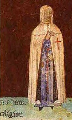Female Templar from Historical Painting, along with documents, such artwork proves the existence of female members and female rank in the Christian Cathar church