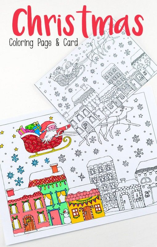 small coloring pages for christmas - photo#48