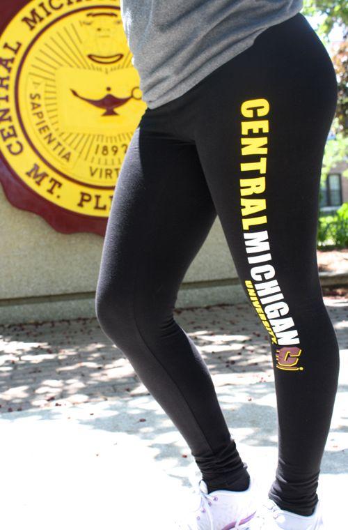 Black Central Michigan University Leggings