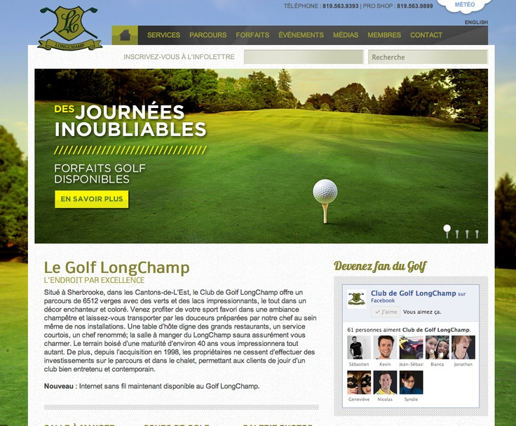 Site Web - Club de Golf LongChamp