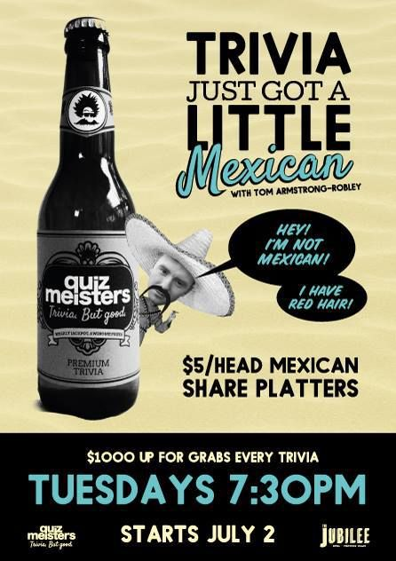 Tuesday Night Trivia at the Jubilee Hotel