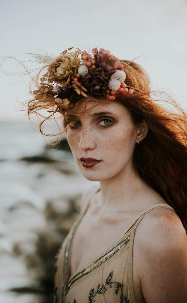 This Beachy Bridal Inspiration Has a Moody Romantic Twist
