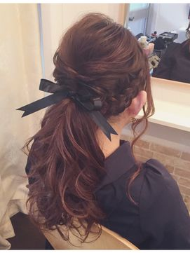 アストニッシュ Astonish hair make salon編み込みポニーテール