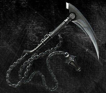 The Kusari-Gama (鎖鎌 Kusari Gama, Chain Sickle) is a Ninja weapon consisting of a long chain with...