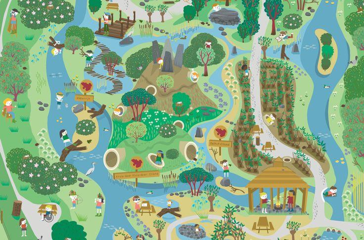 Natuurspeelterrein Tiengemeten Map by Caroline Ellerbeck natuurmonumenten
